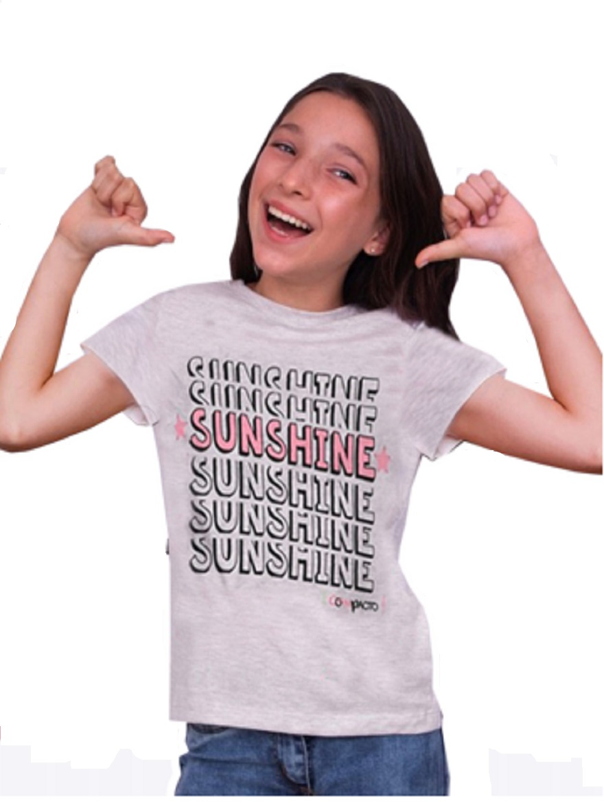 REMERA ART.1837 T.4/6/8/10/12 NENA ESTAMPA SUNSHINE Talles: 4 A 12