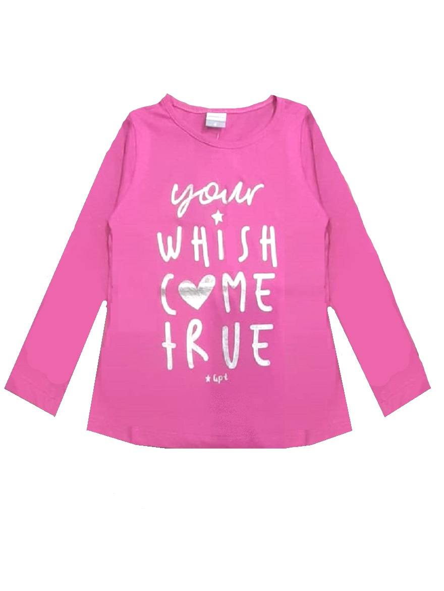 REMERA ART.176308 T.4/6/8/10/12/14/16 NENA ESTAMPA YOUR WISH Talles: 4 A 16