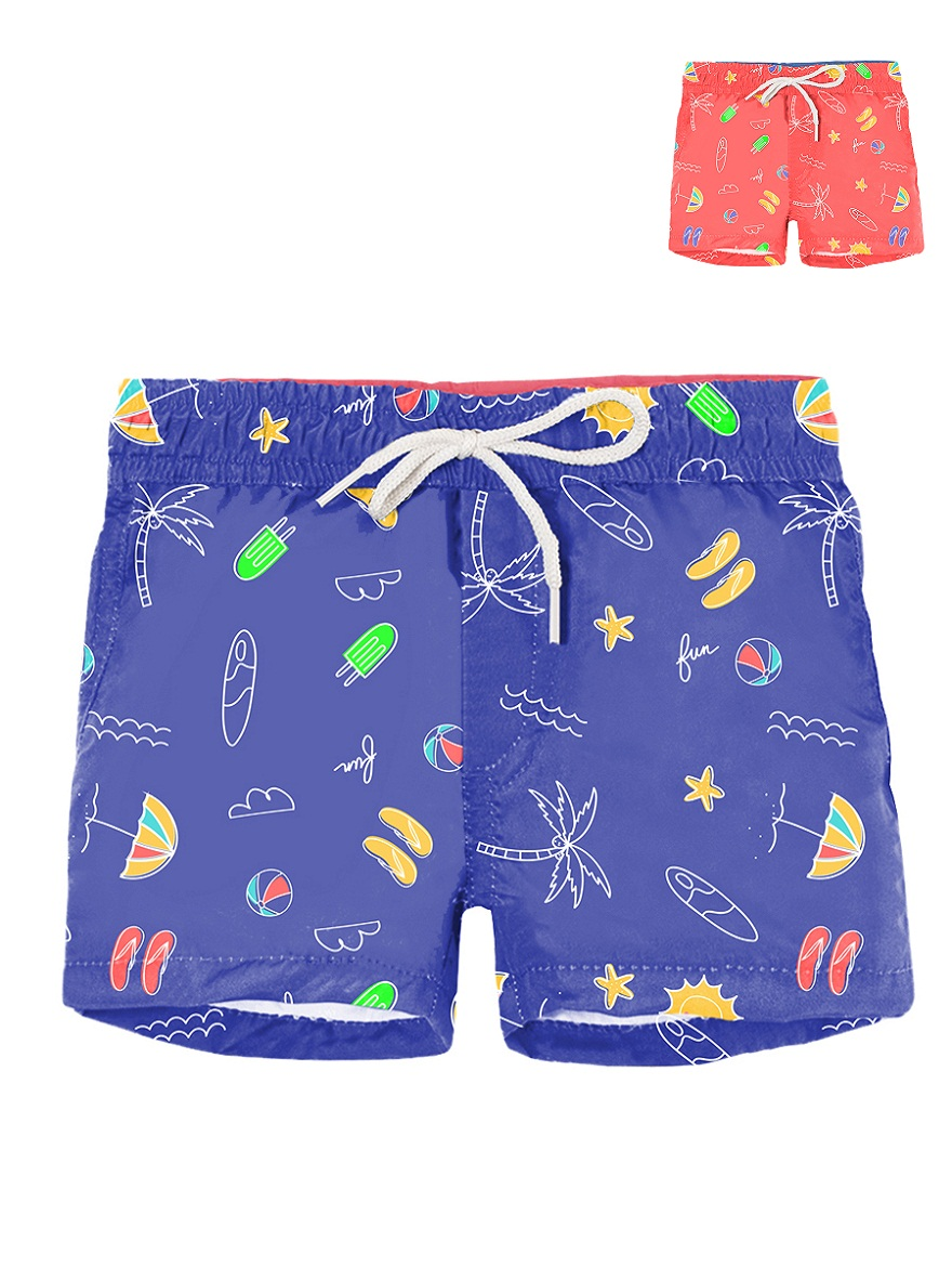 SHORT DE BAÑO ART.183264 T.18M BEBE ESTAMPA PLAYA Talles: 18