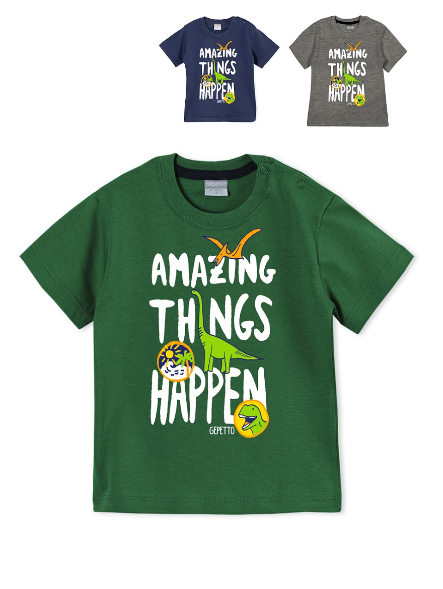 REMERA ART.183304 T.12/18M BEBE CON ESTAMPA AMASING THINGS Talles: 12/18M