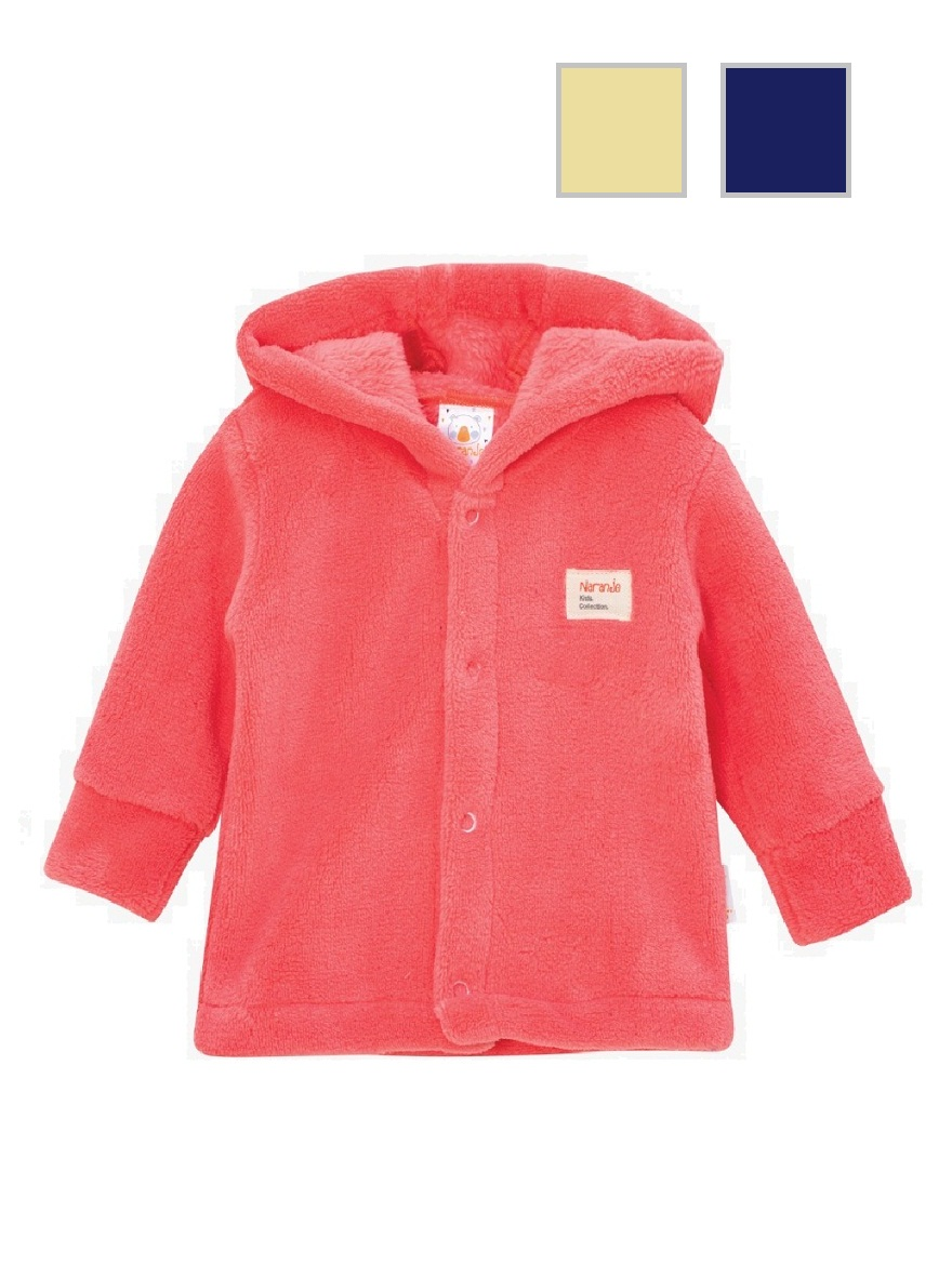 CAMPERA ART.4502 T. 3/6/9  CORAL FLEECE CON CAPUCHA Talles: 3/6/9