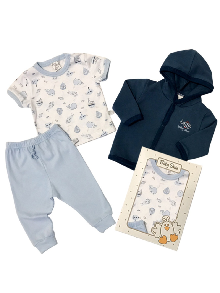 PACK ART.6084 T.0/1/2/3 3PZ BEBE, CAMPERA, REMERA Y PANTALON Talles: 0/1/2/3
