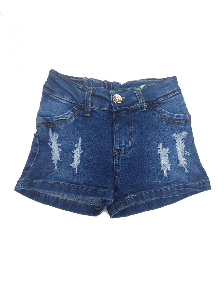 SHORT ART.1344 T.4/8 JEAN DEFLECADO NENA Talles: 4/8