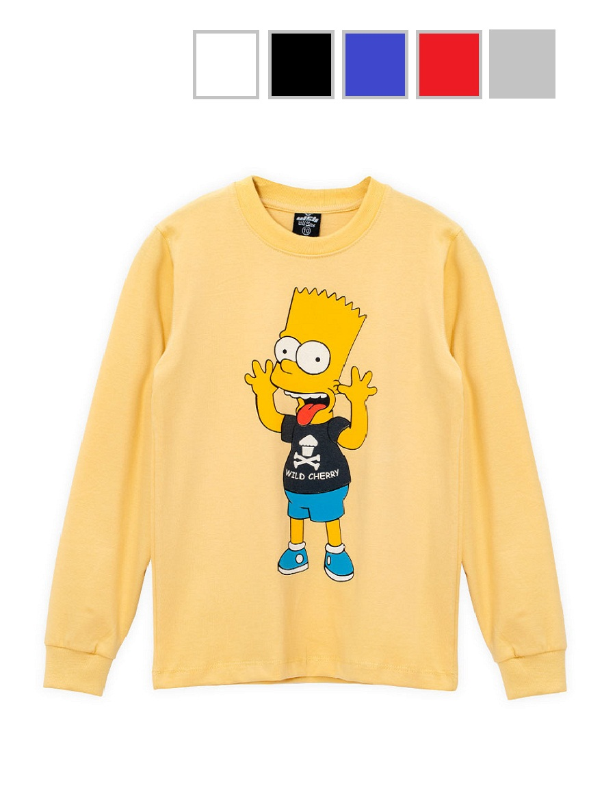REMERA ART.3843 T.4/6/8/10/12/14/16  BART SIMPSON Talles: 4 A 16