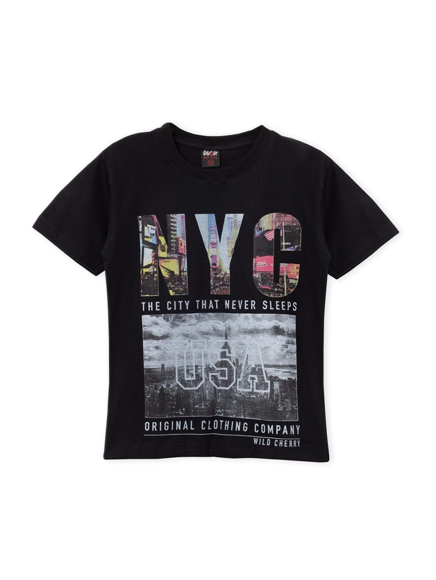 REMERA ART.3900 T.4/6/8/10/12/14/16 NIÑOS ESTAMPA VARON NYC Talles: 4 A 16