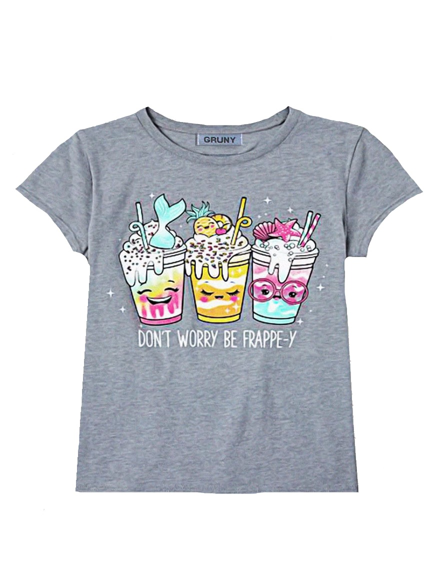 REMERA ART.2085 T.2/4/6/8/12 NENA ESTAMPA DONT WORRY BY HAPPY Talles: 2 A 12