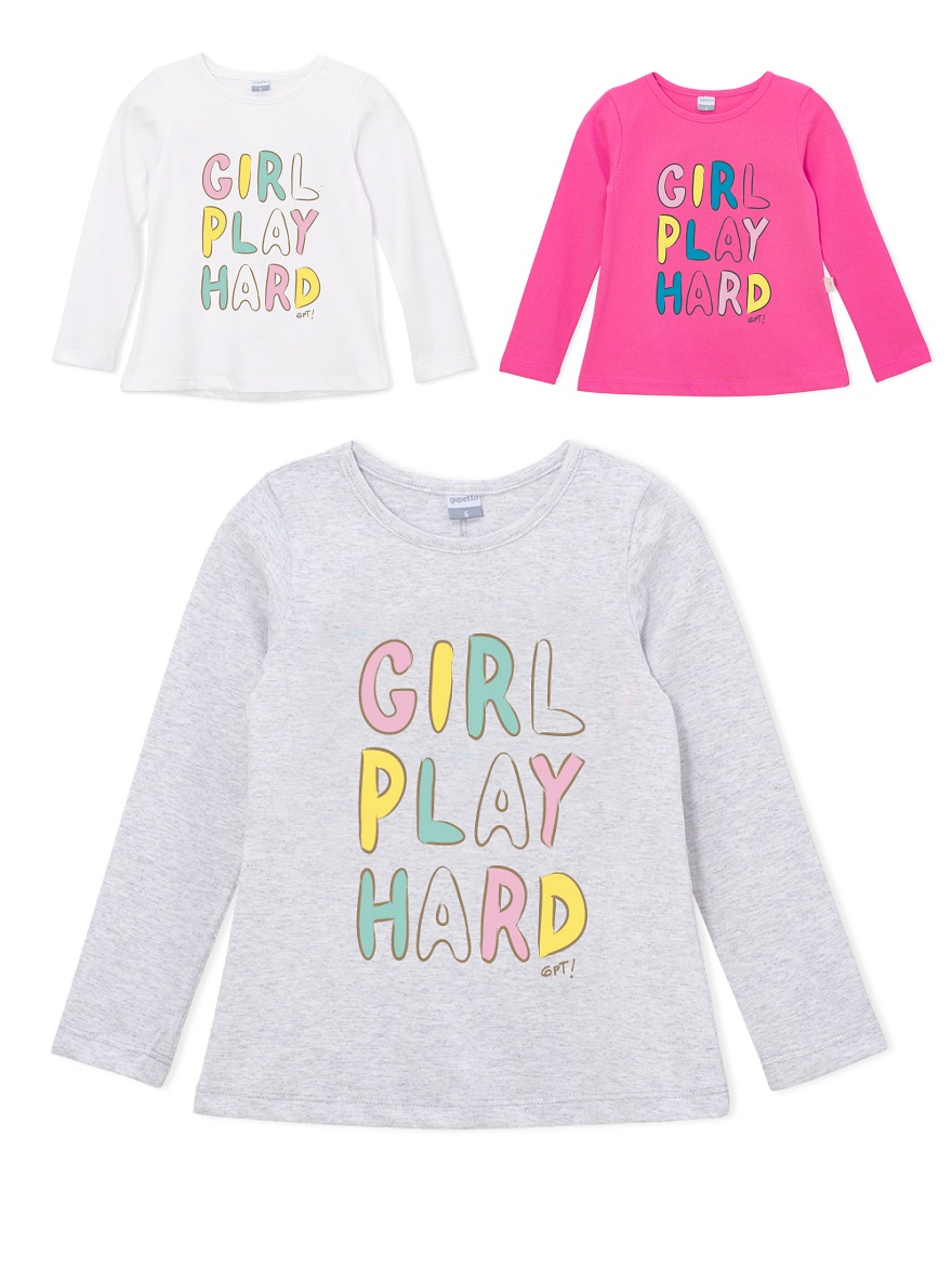 REMERA ART.195307 T.2 NENA ESTAMPA GIRL PLAY HARD Talles: 2