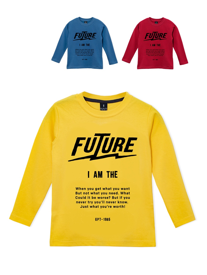 REMERA ART.197307 T.4/6/8/10/12/14/16 VARON ESTAMPA FUTURE Talles: 4 A 16