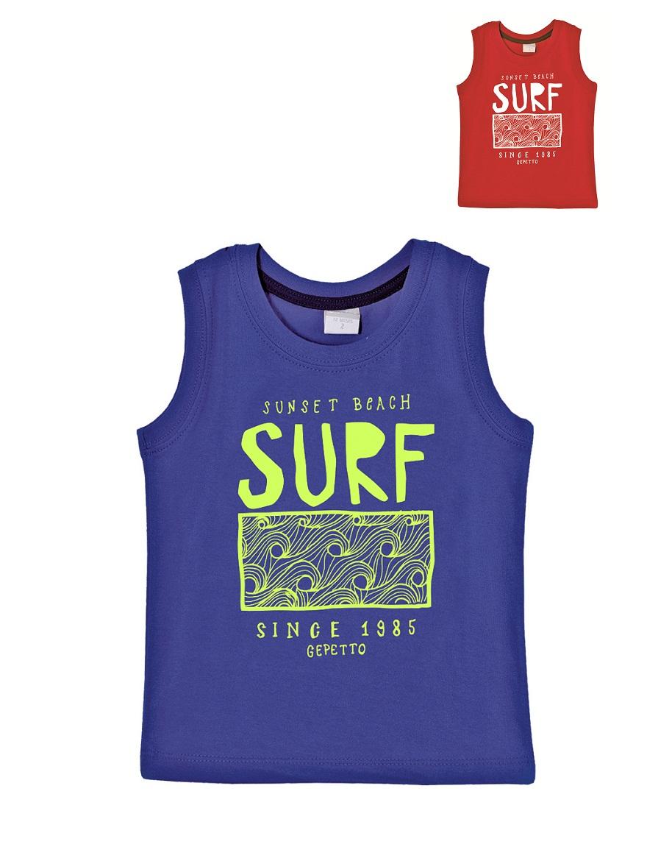 MUSCULOSA ART.203316 T.12/18/24/36/48M BEBE EST. FLUO SURF Talles: 12M A 48