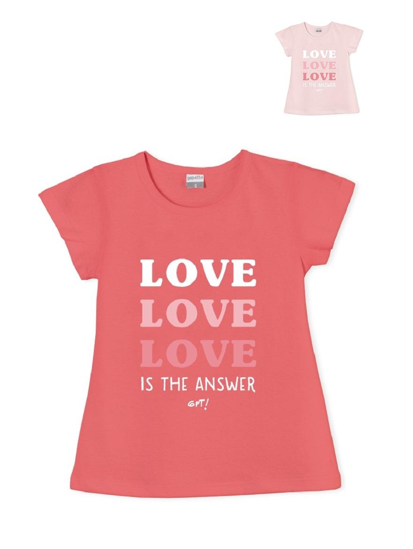 REMERA ART.206315 T.2/4/6/8/10/12/14/16 NENA ESTAMPA LOVE Talles: 2 A 16