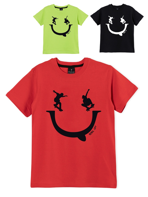 REMERA ART.207306 T.2 VARON ESTAMPA SMILE Talles: 2