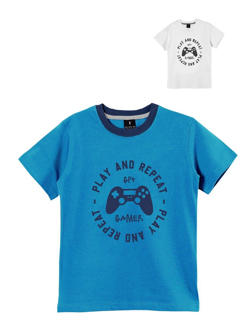 REMERA ART.208318 T.2/4/6/8/10/12/14/16 NENE ESTAMPA PLAY AND REPEAT Talles: 2 A 16