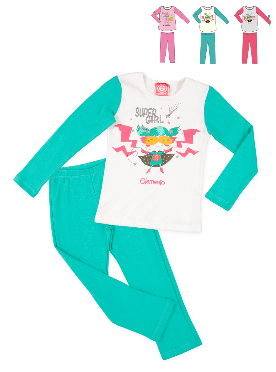 PIJAMA ART.763 T. 2 NENA SUPER GIRL PANT.INTER RECTO Talles: 2 A 8