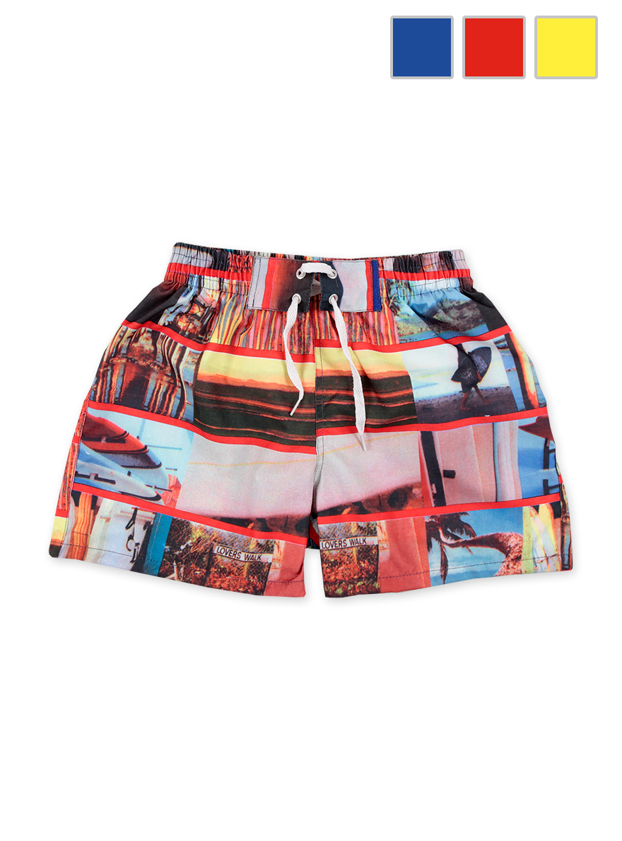 SHORT DE BAÑO ART.18631 T.6/10/14 ESTAMPADO C/ALETOS