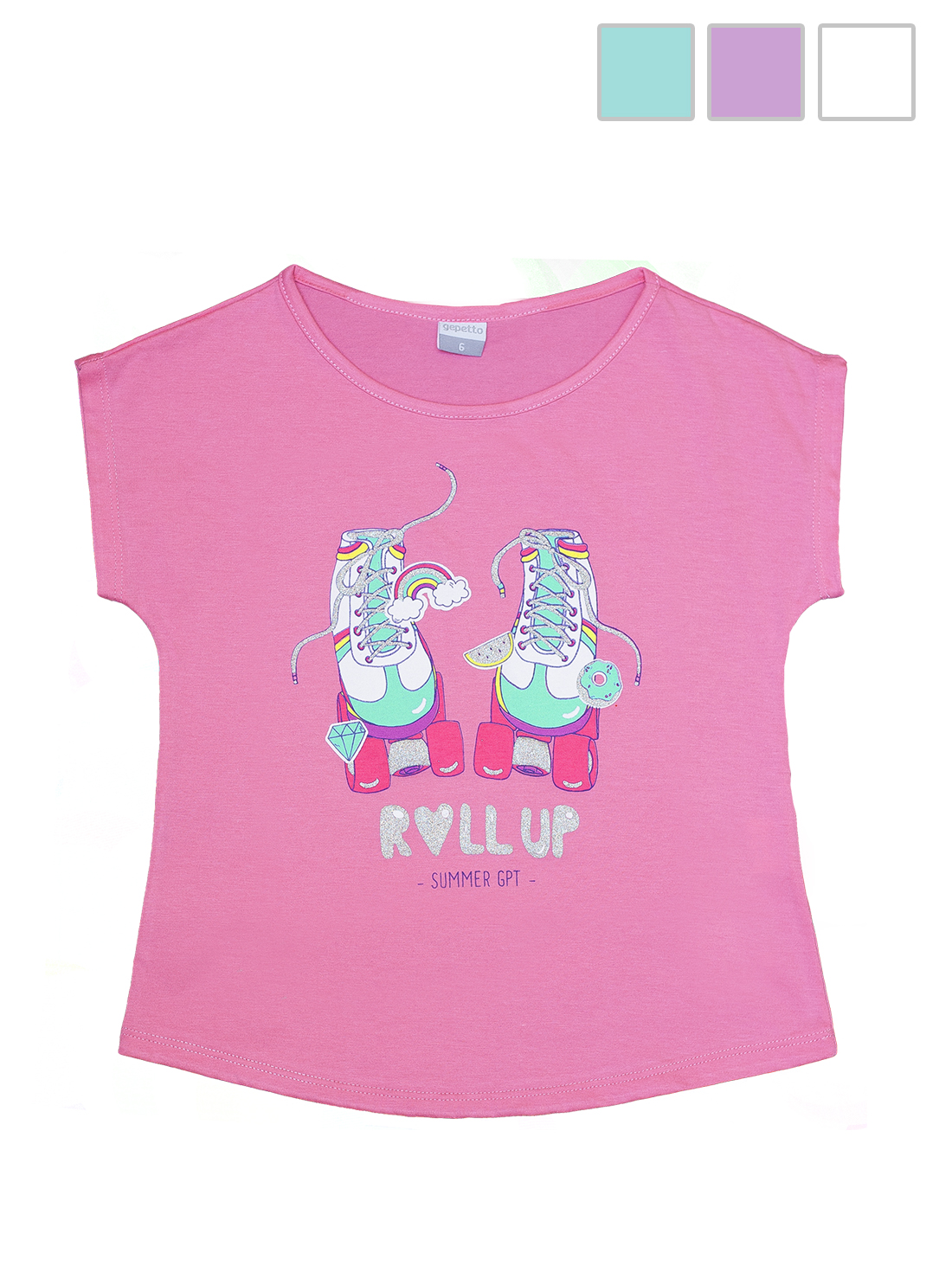 REMERA ART.125304 T.6/8/10/12 NENA C/ESTAMPA BRILLO