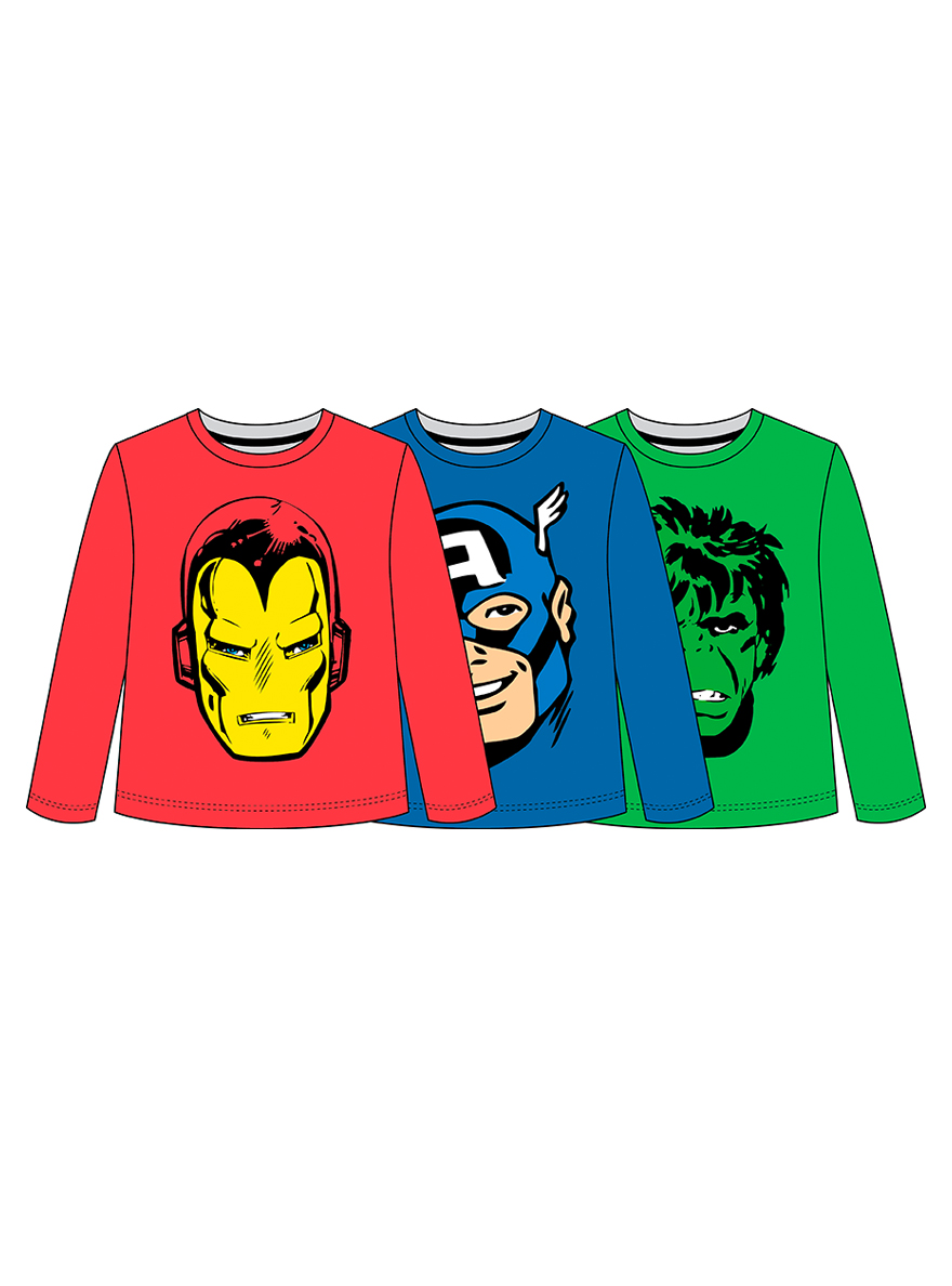 REMERA ART.708598 T.8/10/12 MARVEL HULK/CAPITAN AMERICA/ IRON MAN Talles: 8 a 12