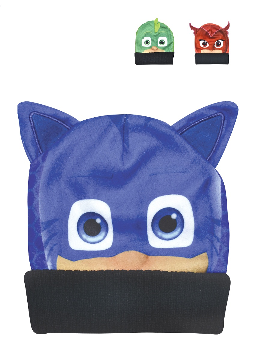 GORRO ART.PJ706 T.UNICO SUBLIMADO CON APLIQUE PJMASKS Talles: UNICO