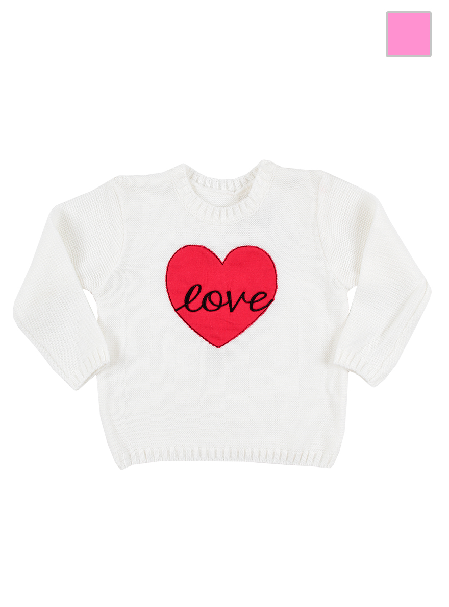 SWETER ART.17121/17122 T.6-9/9-12/12-18/18-24/24-36/36-48 LISO CON BOR Talles: 6 A 48M