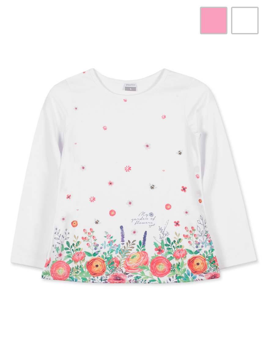 REMERA ART.135311 T.2/4/6/8/10/12/14/16 NENA C/ESTAMPA GUARDA FLORES Talles: 2 A 16