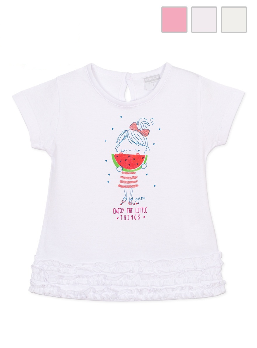 REMERA ART.141306 T.18/24/36/48M BEBA CON ESTAMPA