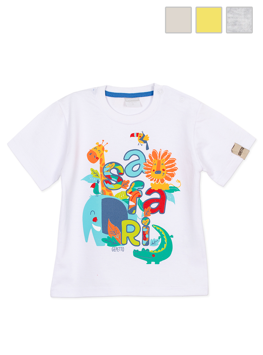 REMERA ART.143303 T.18/36/48M BEBE CON ESTAMPA
