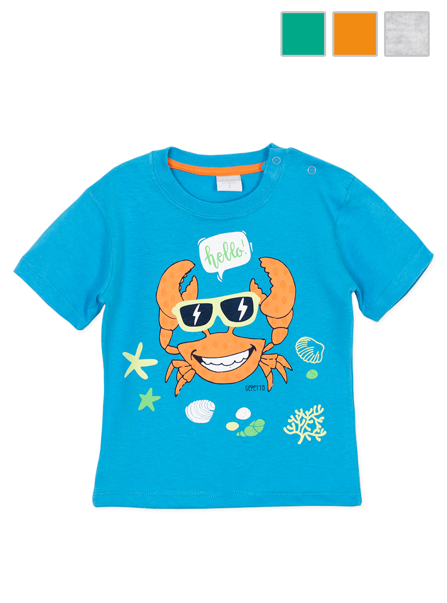 REMERA ART.143304 T.18/24/36/48M  BEBE CON ESTAMPA