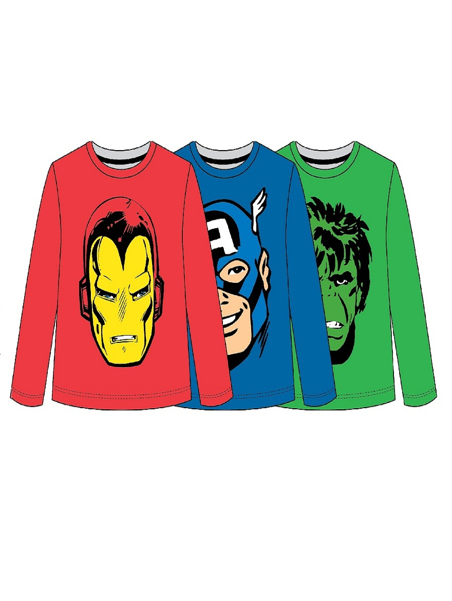 REMERA ART.708574 T.4/6/8/10 ESTAMPA MARVEL Talles: 4 A 10