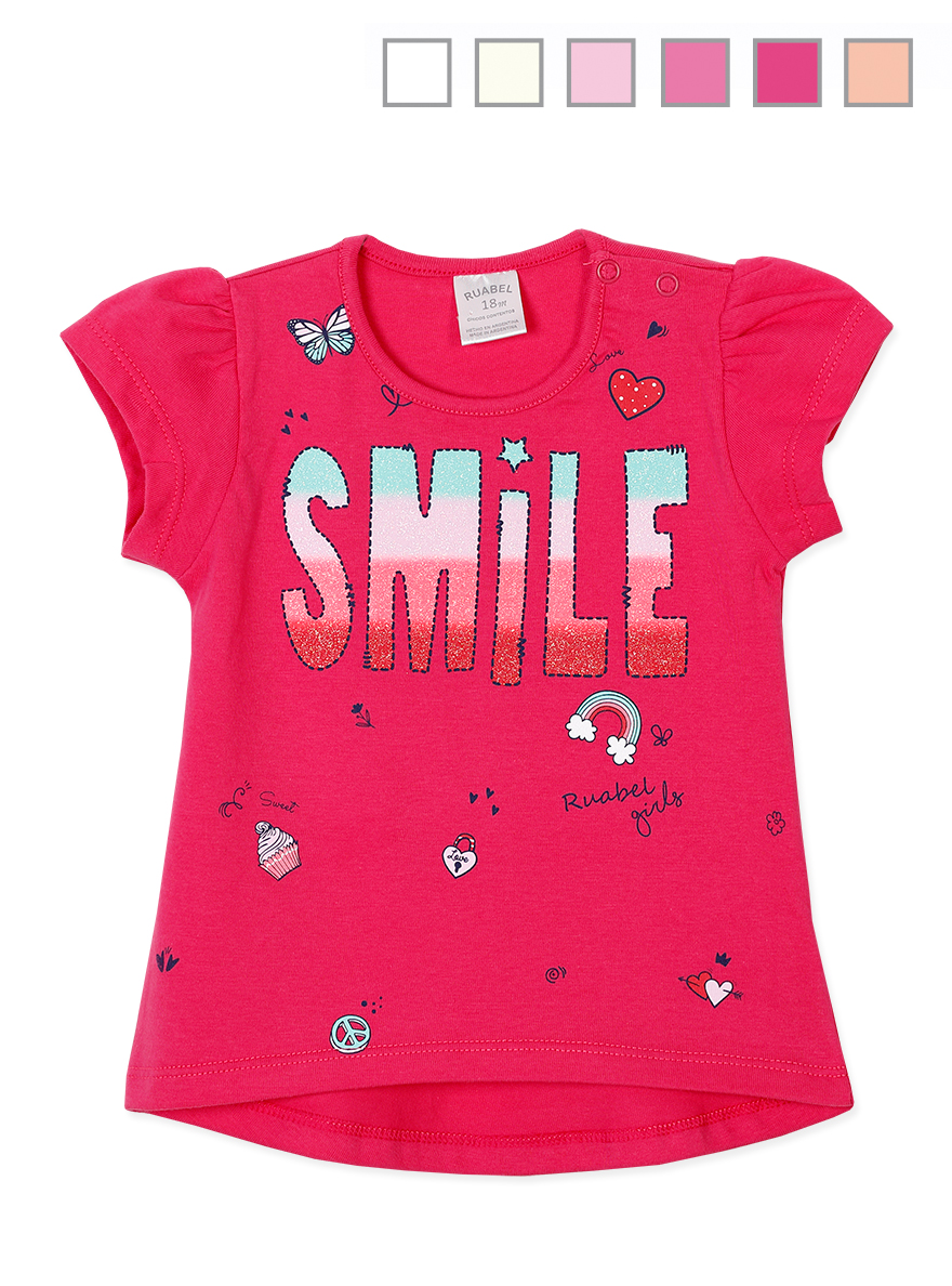 REMERA ART.1011 T.12/18/24 BEBA C/ESTAMPA SMILE