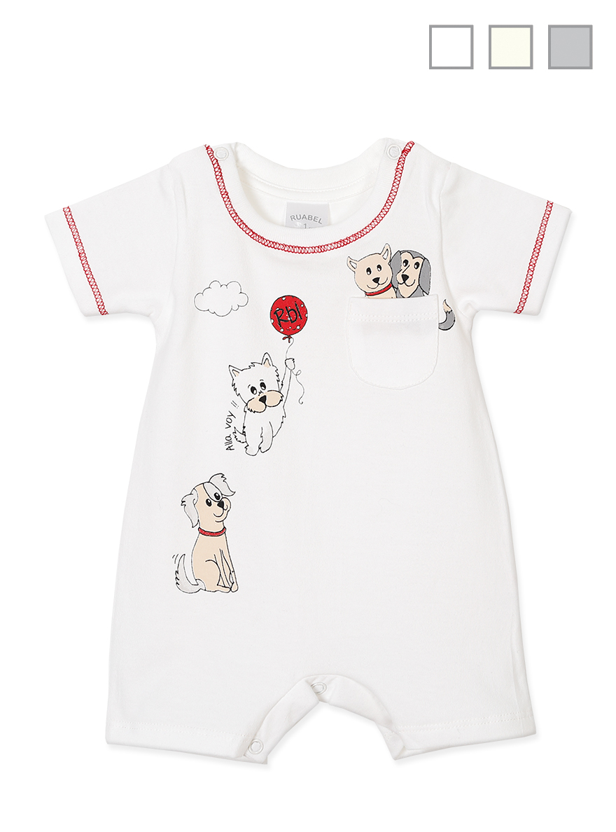 ENTERITO ART.1051 T.0/1 MINI BEBE  ESTAMPADO C/PERRITOS Talles: 0/1