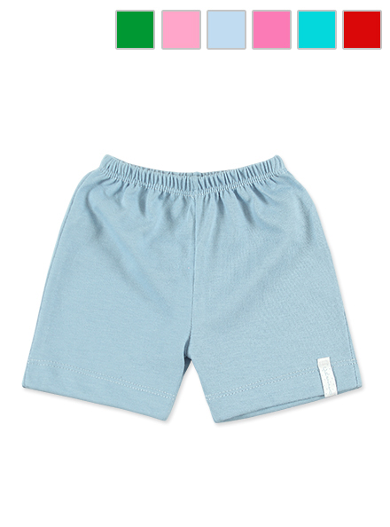 SHORT ART.1014 T. 6/8/10 M MINI BEBE UNISEX LISO COLOR Talles: 6/9/12M