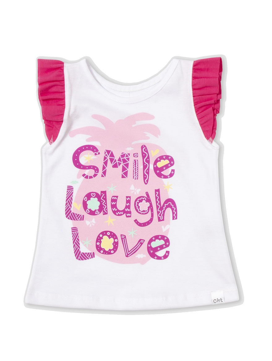 REMERA ART.6613 T.18/24/36 BEBA CON EST. SMILE LOVE Talles: 18 A 36
