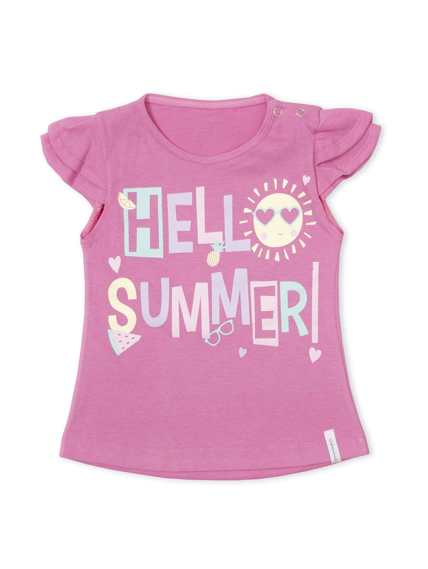REMERA ART.6615 T.12/18/24/36 BEBA COLOR CON EST.HELLO SUMMER Talles: 12 A 36