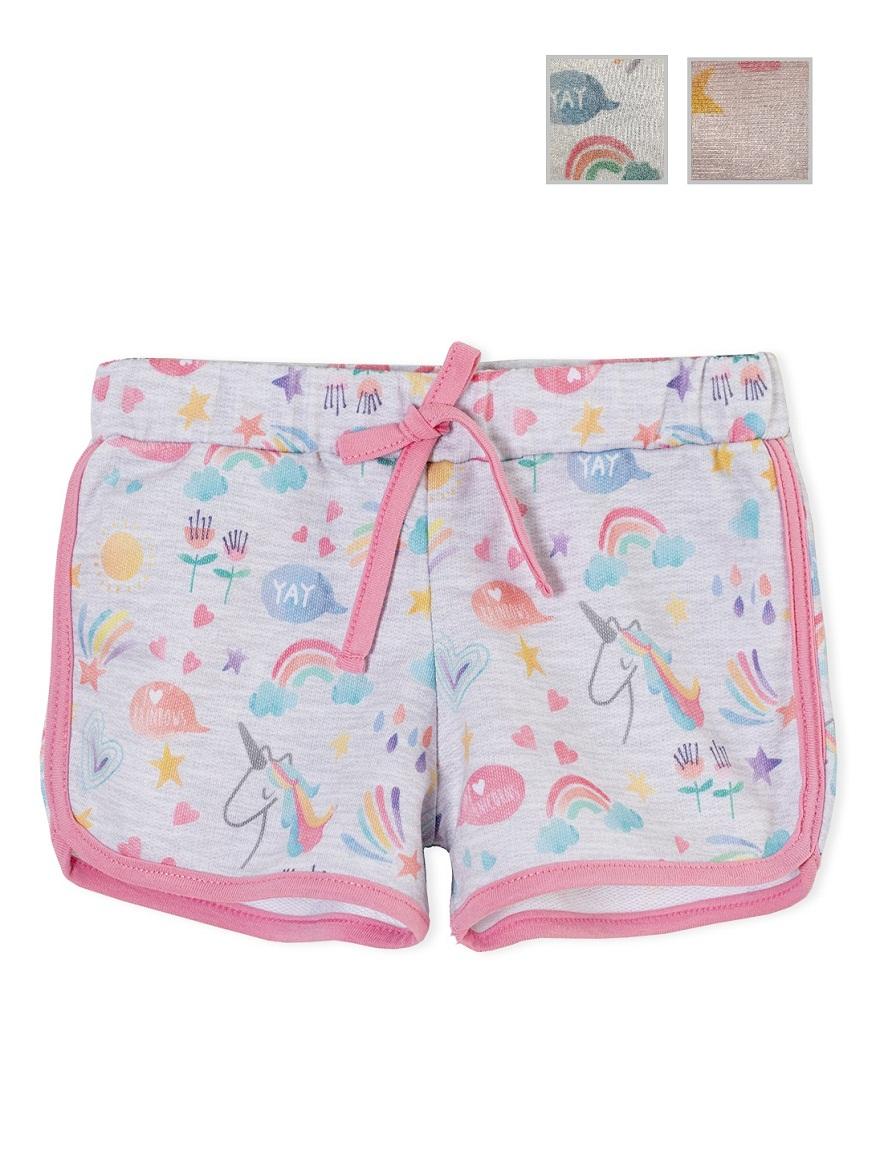 SHORT ART.161354 T.12/18/24/36/48 RÚSTICO ESTAMPADO UNICORNIO MAGIC Talles: 12 A 48