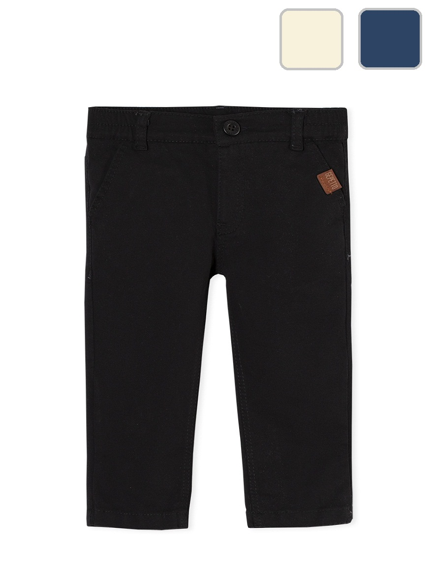 PANTALON ART.163103 T.12/18/24/36/48M CHINO BEBE COLOR Talles: 12 A 48M