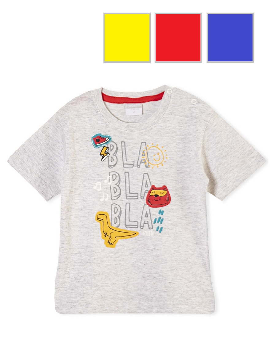 REMERA ART,163309 T. 18/24/36/48 BEBE CON ESTAMPA