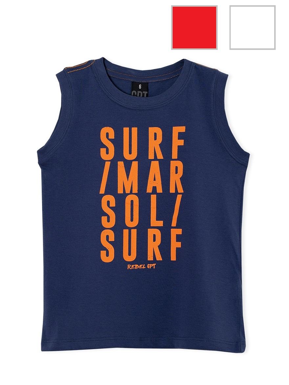 MUSCULOSA ART.167315 T.10/12  VARON EST. SURF Talles: 10/12