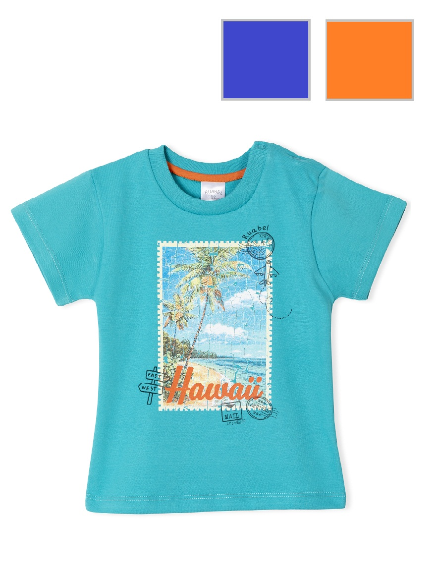 REMERA ART.1661 T. 12/18/24/36  BEBE CON ESTAMPA PLAYA Talles: 12 A 36