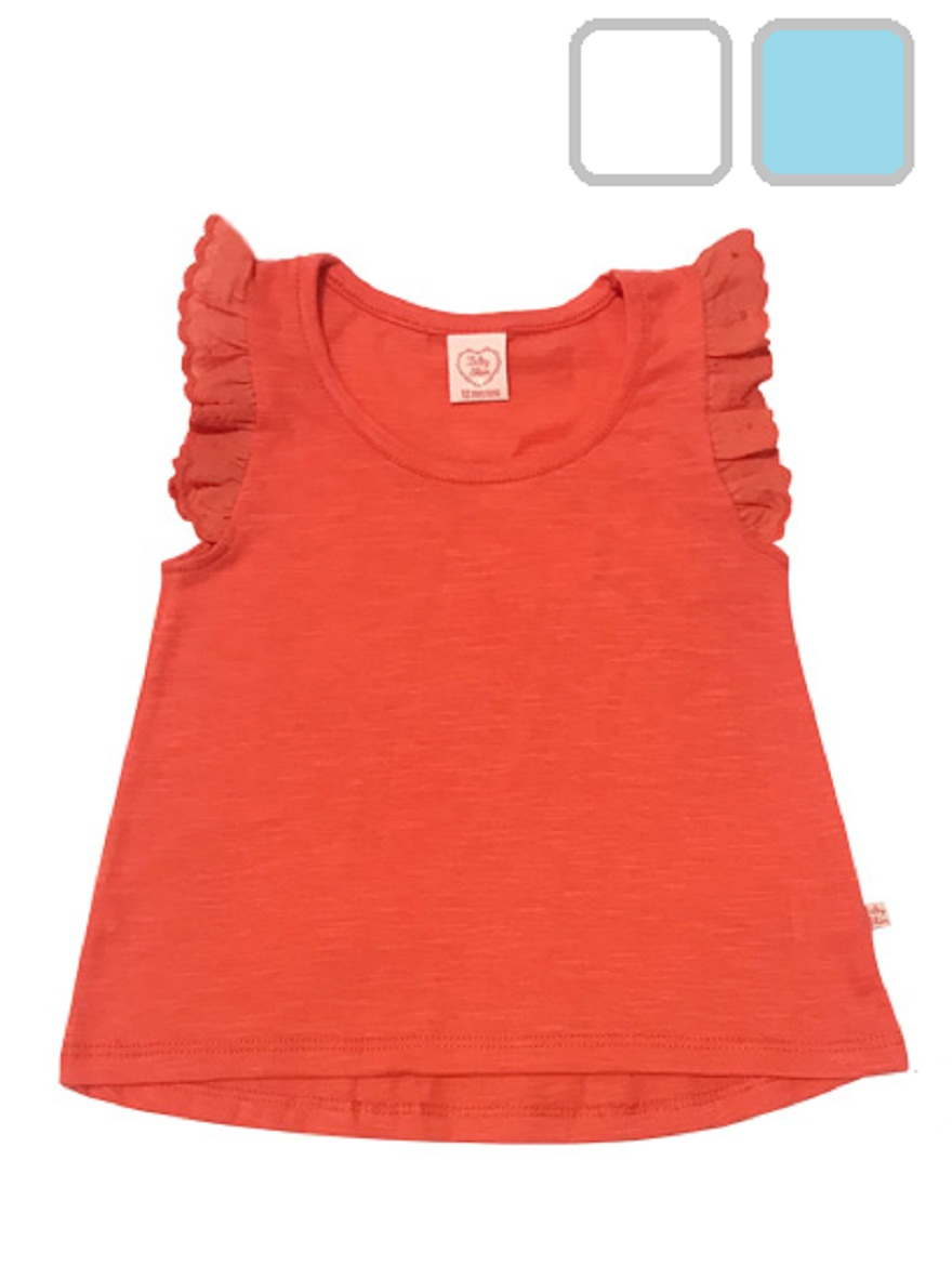 MUSCULOSA ART.6099 T.12/18/24 M BEBA FLAME CON BRODERIE Talles: 12M A 24